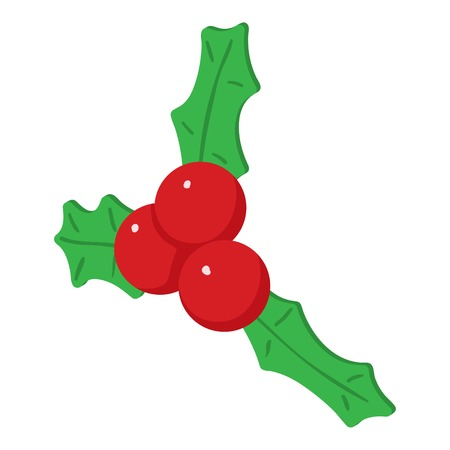 Christmas berry icon. Isometric illustration of christmas berry vector icon for web