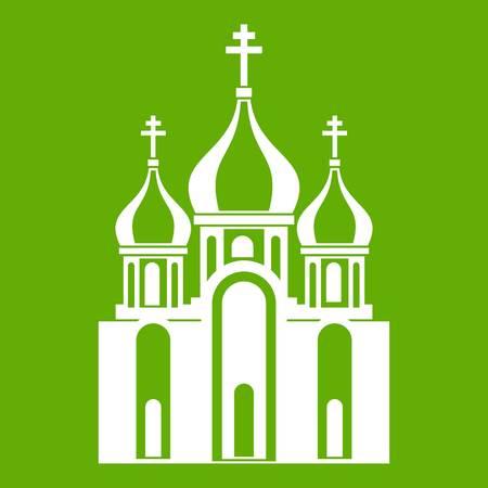 Church building icon. Illustration