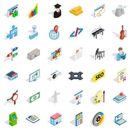 Profession icon in isometric 3d style. Illustration