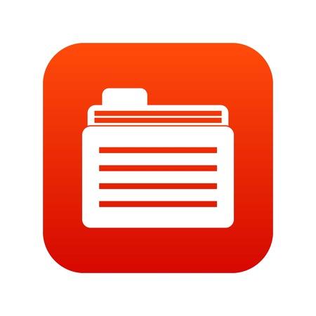 File folder icon. Illustration