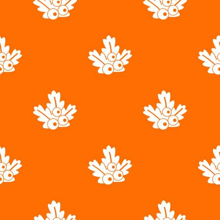 Xmas branch pattern repeat seamless in orange color for any design. Vector geometric illustration Illustration