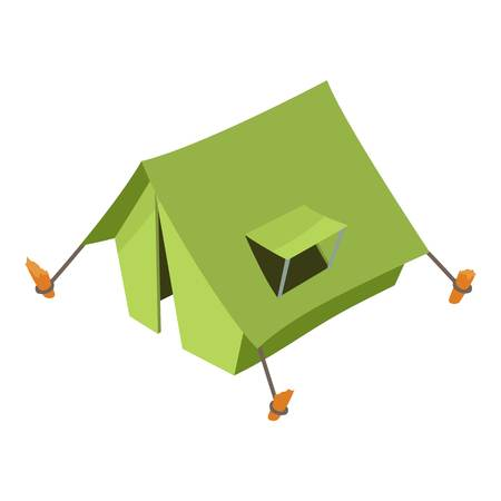 Tent icon. Isometric illustration of tent vector icon for web