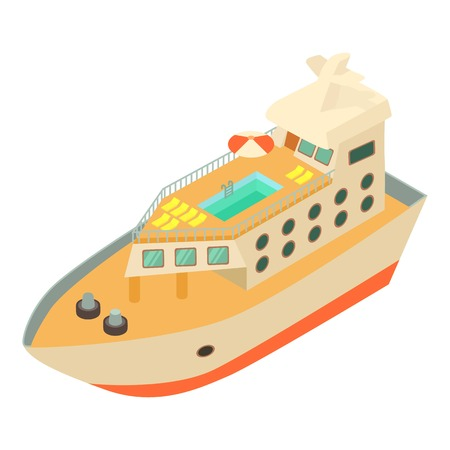 Ship icon. Isometric illustration of ship vector icon for web