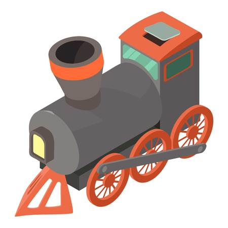 Train icon. Isometric illustration of train vector icon for web