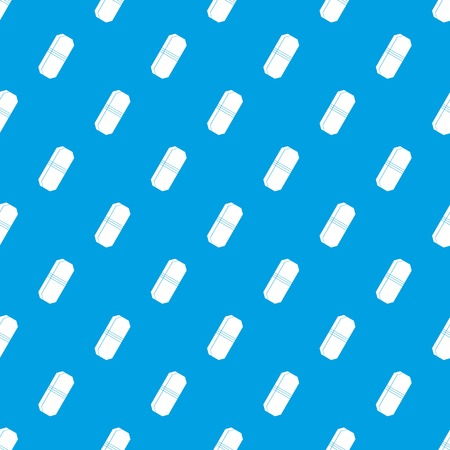 Pencil eraser pattern repeat seamless in blue color for any design. Vector geometric illustration