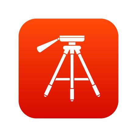 Tripod icon digital red