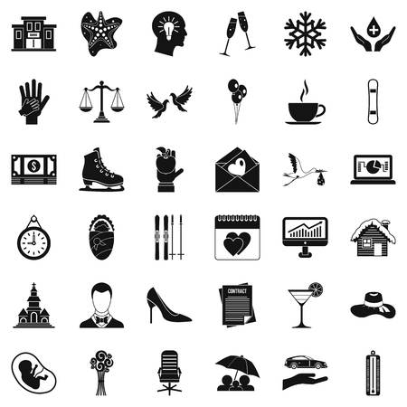 Enjoy icons set, simple style