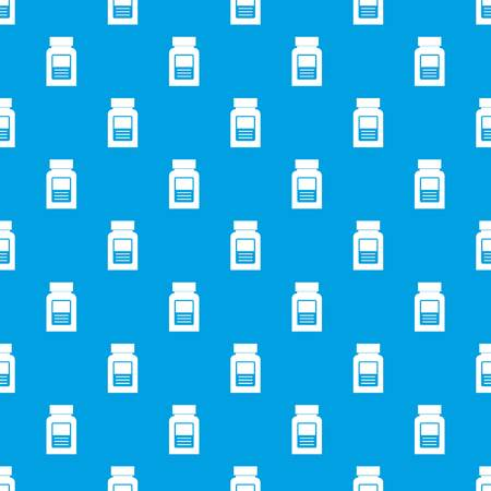 Medicine bottle pattern seamless blue