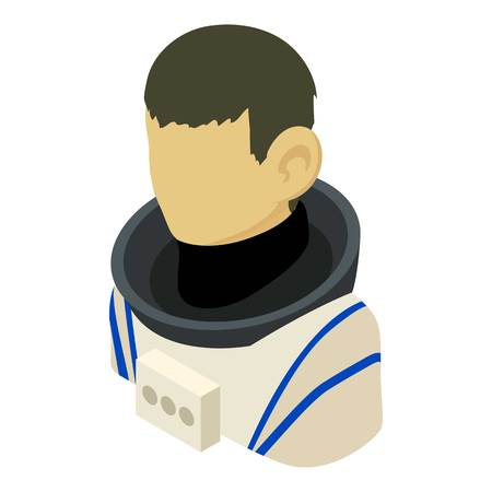 Cosmonaut asian icon. Isometric illustration of cosmonaut asian vector icon for web