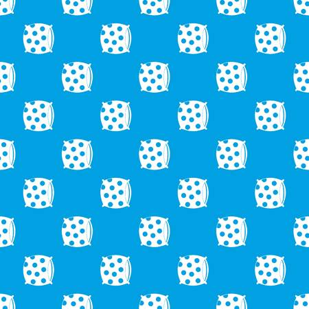 Pillow with dots pattern repeat seamless in blue color for any design. Vector geometric illustration