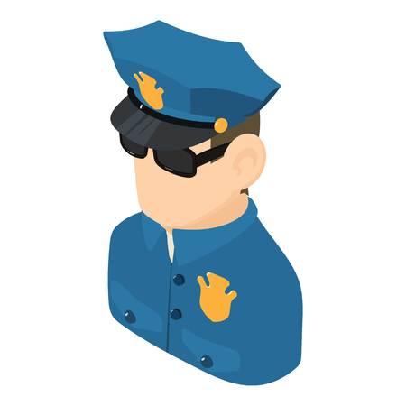 Policeman icon, isometric 3d style