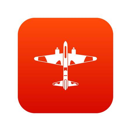 Military fighter aircraft icon. Illustration