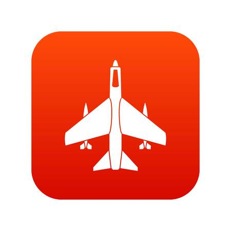 Armed fighter jet icon.