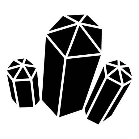 Diamond icon. Simple illustration of diamond vector icon for web