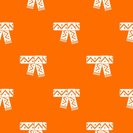 Knitted scarf with seamless pattern, vector illustration.