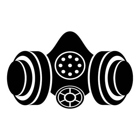 Gas mask icon. Simple illustration of gas mask vector icon for web Illustration