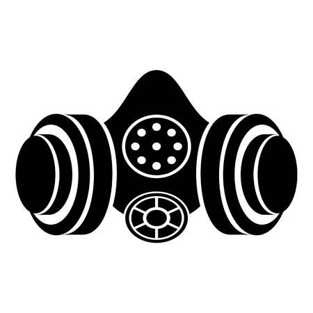Icône de masque à gaz. Illustration simple de l'icône de vecteur de masque à gaz pour le web Banque d'images - 91777118