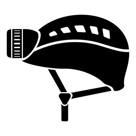 Helmet icon, simple style on white background.