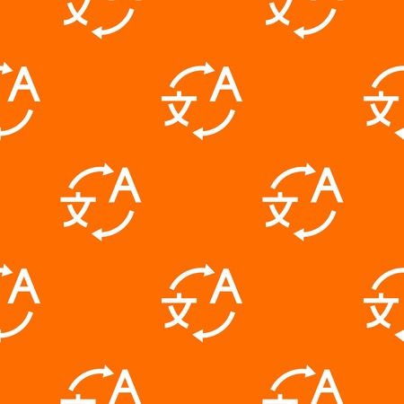 Translating pattern repeat seamless in orange color for any design. Vector geometric illustration.