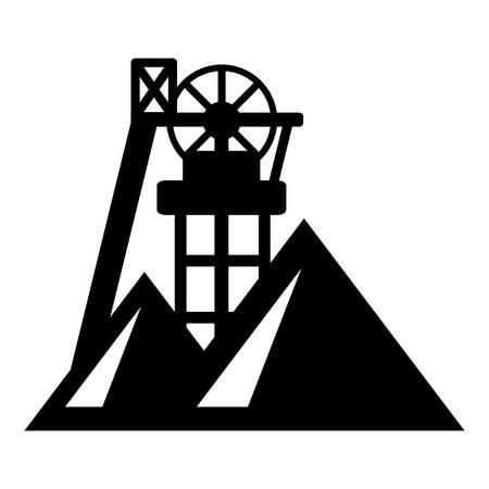 鉱山のアイコン。ウェブ用の鉱山ベクトルアイコンの簡単なイラスト