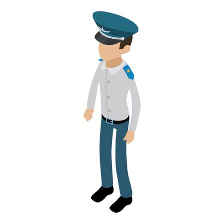 Officer icon, isometric 3d style