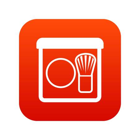 Brush icon digital red for any design isolated on white vector illustration Illustration