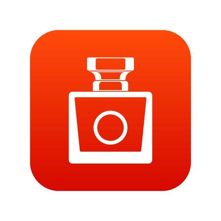 Perfume icon digital red Иллюстрация