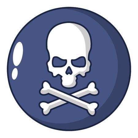 Danger icon. Cartoon illustration of danger vector icon for web