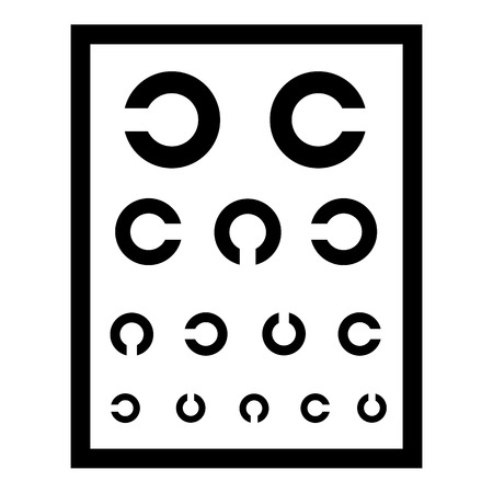 Ophthalmology tablet icon. Simple illustration of ophthalmology tablet vector icon for web Ilustracja