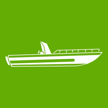 Motor speed boat icon.