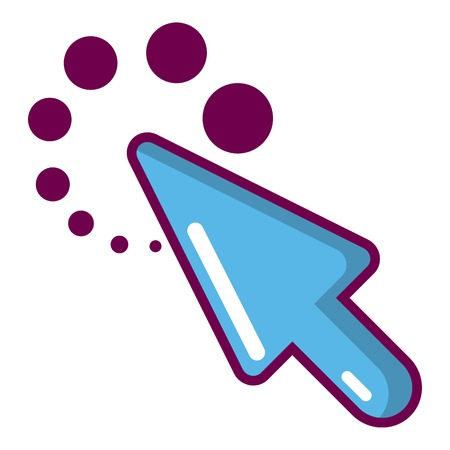 Cursor loading icon cartoon style.