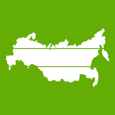 Map of Russia icon in green background.