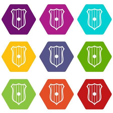 Protective shield icon illustration. 일러스트
