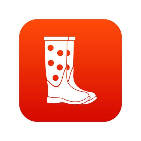 Rubber boots icon illustration.
