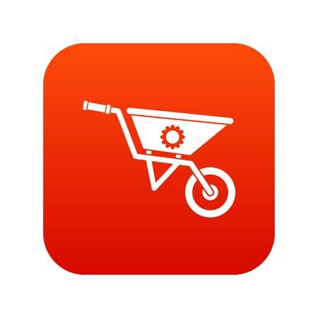 Wheelbarrow icon vector illustration