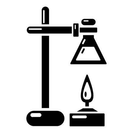 Chemical process icon in simple black style.