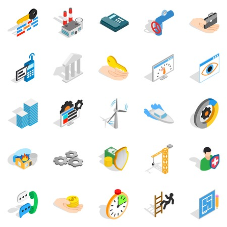 Business consort icons set
