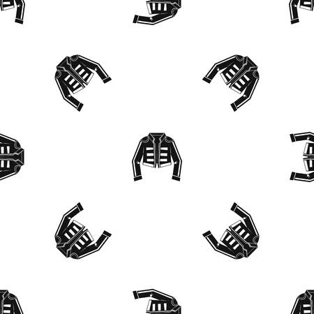 Costume of toreador pattern seamless black Vettoriali