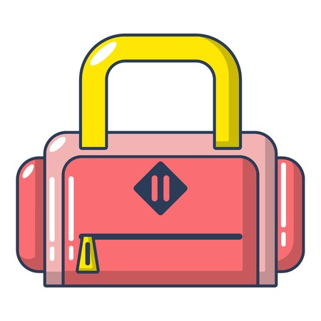 Travel bag handle icon  cartoon style Illustration
