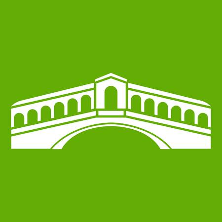 Venice bridge icon green