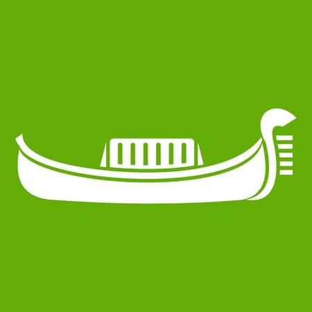 Venice gondola icon green