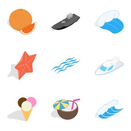 Coast icons set