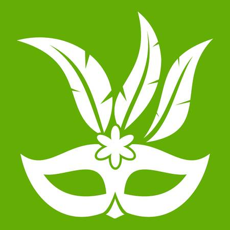 Carnival mask icon green Illustration