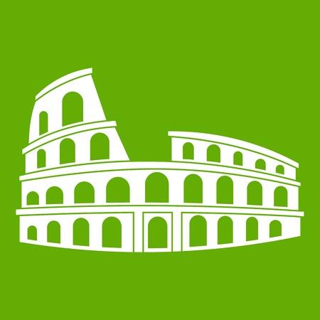 Roman Colosseum icon green