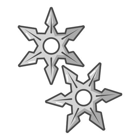 Ninja stars icon. Cartoon illustration of ninja stars vector icon for web Ilustração