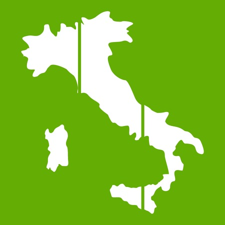 Map of Italy icon green