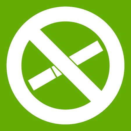 No smoking sign icon green 免版税图像 - 92114054