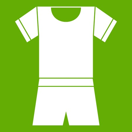 Sport shirt and shorts icon green