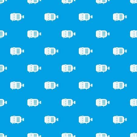 電気モーターパターンシームレスブルー