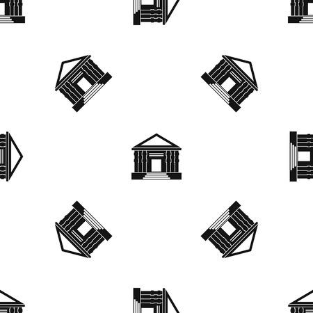 Colonnade pattern seamless black